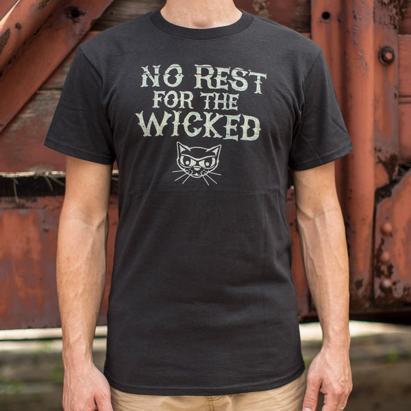 No Rest For The Wicked T-Shirt (Mens)-Mens T-Shirt-SJI Shop