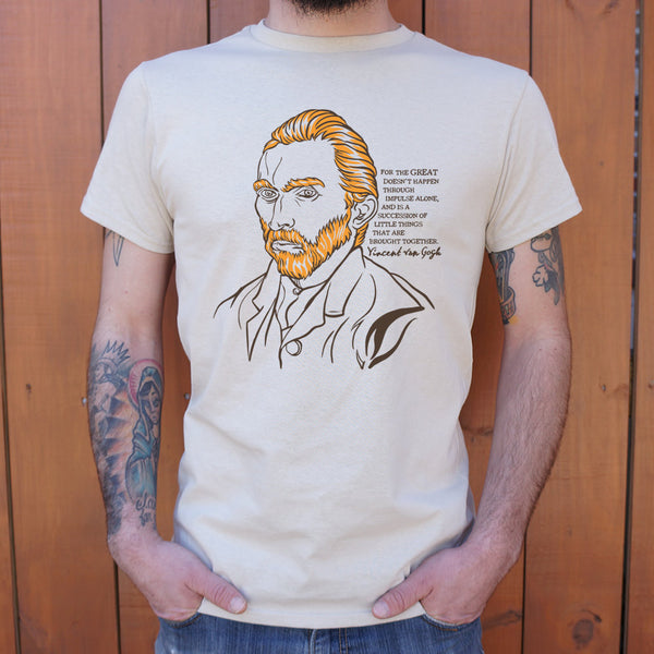 Vincent Van Gogh Quote T-Shirt (Mens)-Mens T-Shirt-SJI Shop