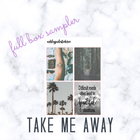 TAKE ME AWAY - Foiled - Full Box Sampler | Erin Condren, Happy Planner