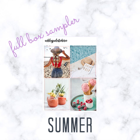 SUMMER - Full Box Sampler | Erin Condren, Happy Planner
