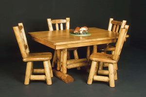 Log Trestle Dining Table