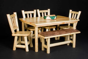 Log Farm Dining Table