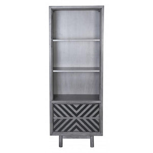 Raven Narrow Tall Shelf Gray