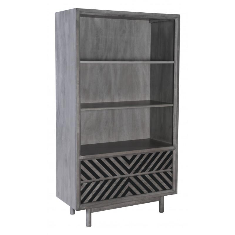 Raven Wide Tall Shelf Gray