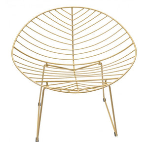 Hyde Outdoor Lounge Chair Gold