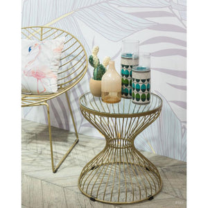 Rose Side Table Gold