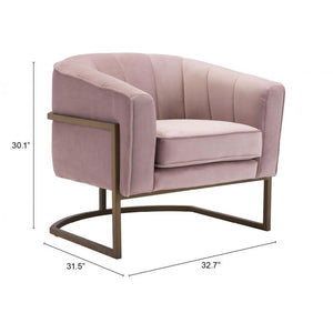 Lyric Occasional Chair Pink