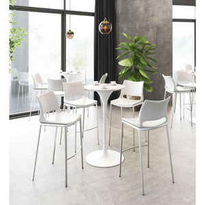 Dylan Bar Table Gray & White