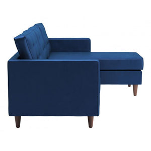 Puget Sectional Dark Blue
