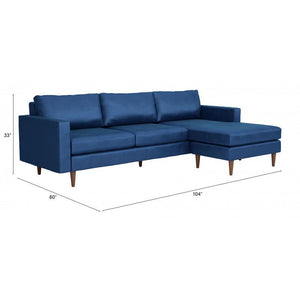 Kace Sectional Dark Blue