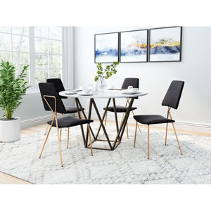 Chloe Dining Chair Black & Gold