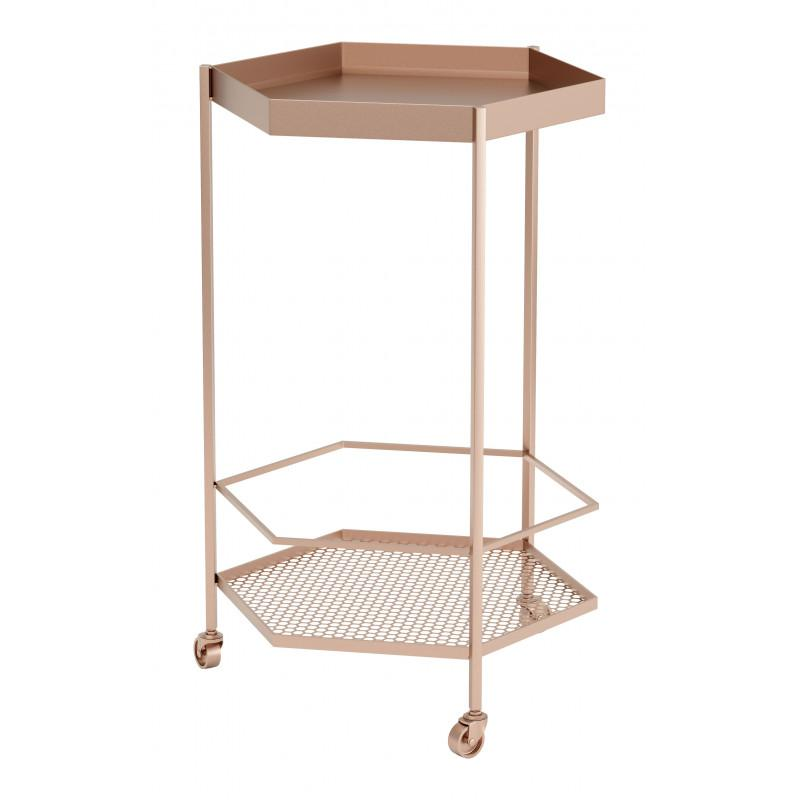 Hex Bar Cart Gold