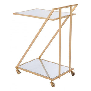 Alto Bar Cart Mirror & Gold
