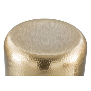 Cannon Side Table Gold & Clear