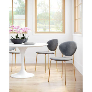 Dylan Dining Table Gray & White