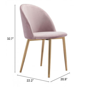 Cozy Dining Chair Pink