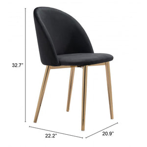 Cozy Dining Chair Black