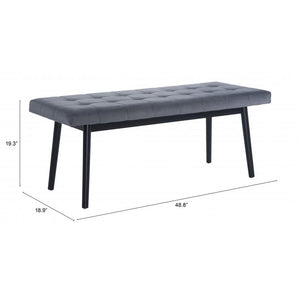 Tanner Bench Gray & Black