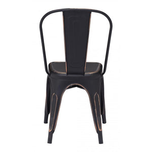 Elio Dining Chair Antique Black Gold