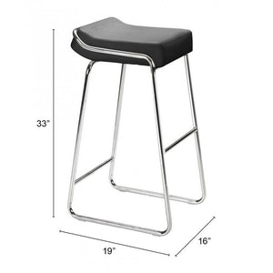Wedge Barstool Black