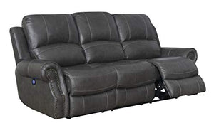 Emerald 3 Piece Livingroom Set, Charcoal Gray by Sunset Trading