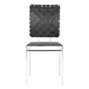 Criss Cross Dining Chair Black