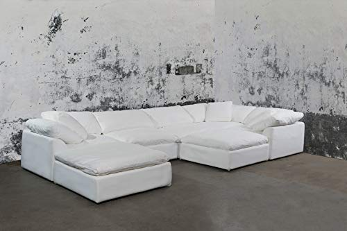 Cloud Puff Sectional Sofa, White by Sunset Trading