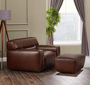 Milan Armchair & Ottoman Set, Deep-Seating, Brown by Sunset Trading