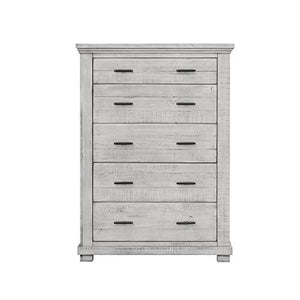 Crossing Barn Bedroom Set, Queen, Distressed Light Gray by Sunset Trading