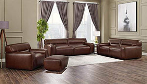 4-Pc Living Room Furniture Set in Brown by Sunset Trading