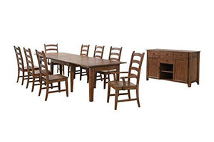 Simply Brook Dining Table Set, Brown by Sunset Trading