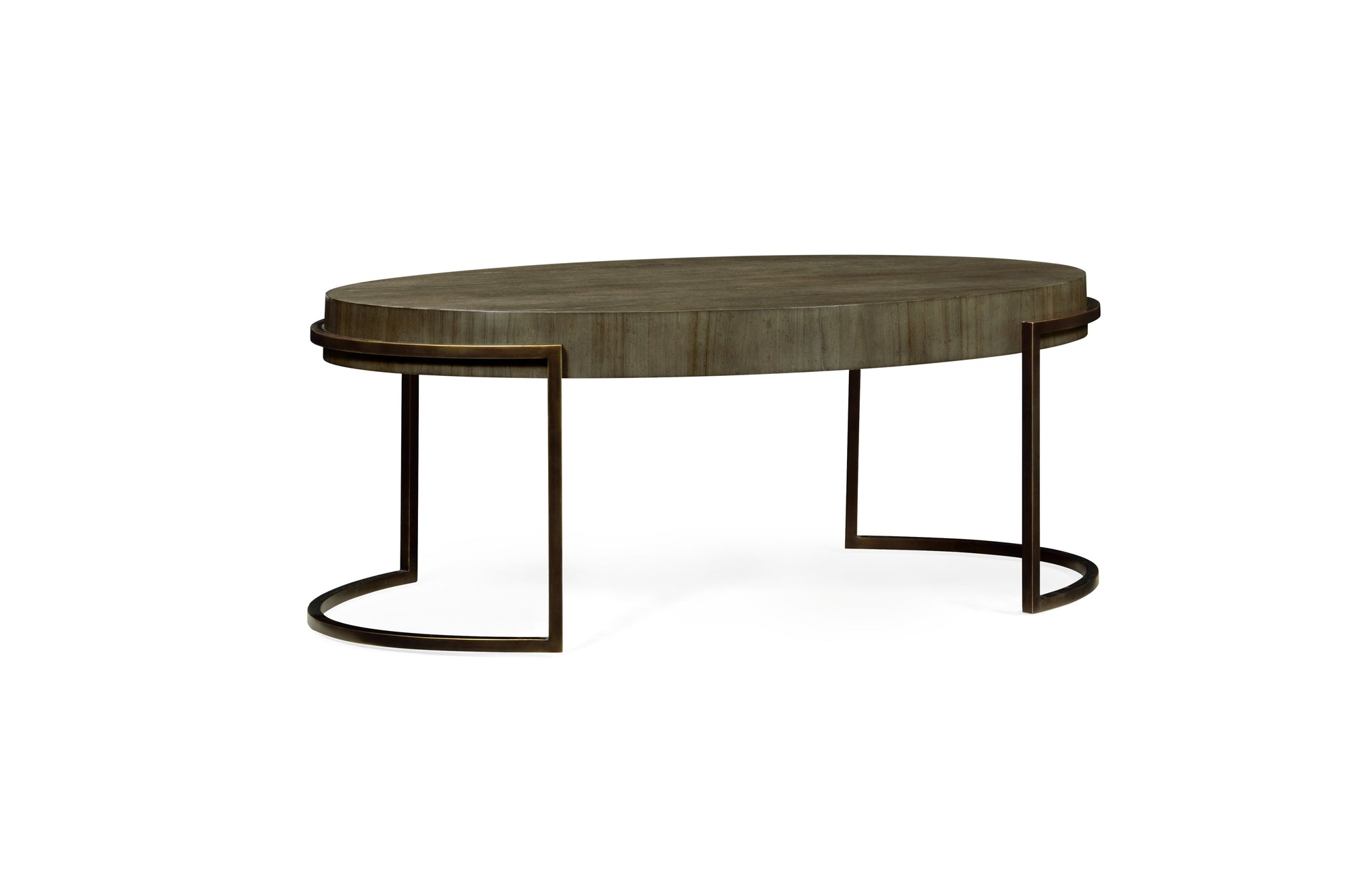 Chestnut Oval Coffee Table by Jonathan Charles - HomeKingz.com - Online furniture shop with the best prices & premium customer support!