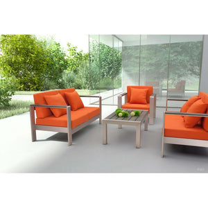 Cosmopolitan Sofa (Frame only) Brushed Aluminum