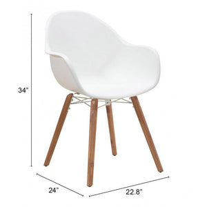 Tidal Dining Chair White