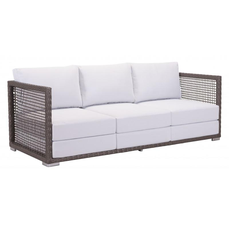Coronado Sofa Cocoa & Light Gray