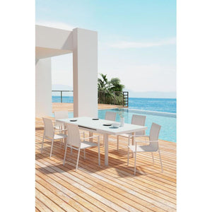 Mayakoba Dining Arm Chair White