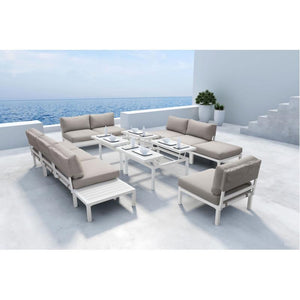 Santorini Loveseat White & Gray
