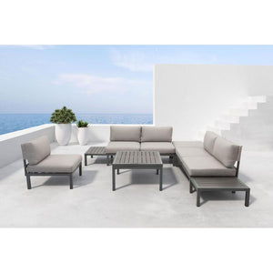 Santorini Armless Chair Dark Gray & Gray