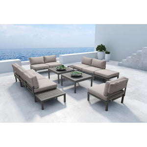 Santorini Loveseat Dark Gray & Gray