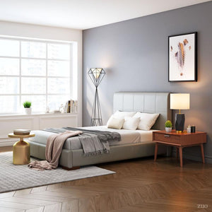 Amelie Full Bed Gray by Zuo Modern - HomeKingz.com - Online furniture shop with the best prices & premium customer support!