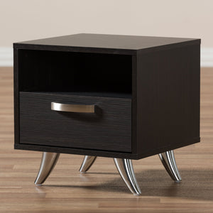 Baxton Studio Warwick Modern and Contemporary Espresso Brown Finished Wood End Table