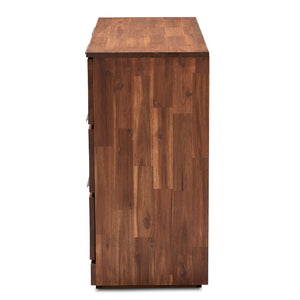 Baxton Studio Austin Modern and Contemporary Caramel Brown Finished 6-Drawer Wood Dresser