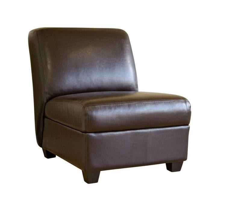 Arthur Full Leather Armless Club Chair