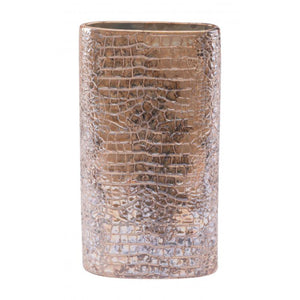 Medium Ikat Cylinder Vase Multicolor