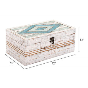 Rombo Rectangular Box White