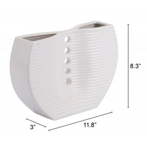 Small Pins Vase White