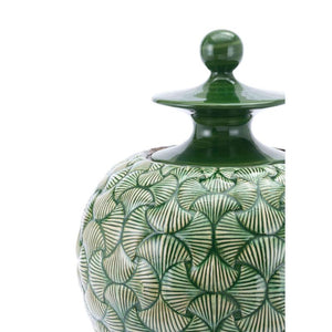 Large Ventra Temple Jar Green