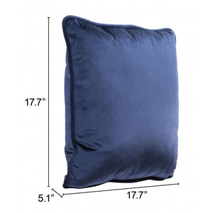 Velvet Pillow Blue
