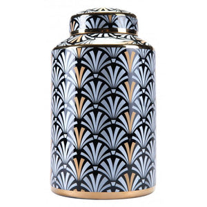 Medium Dunand Jar Black & White