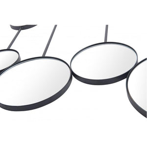 Cery Round Mirror Black